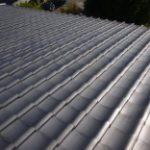 太陽光パネル設置工事の現場調査を行いました! 日本瓦の土葺き構法でした!