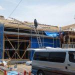 安全・安心な平屋の日本瓦一文字葺き屋根を工事中です! 序