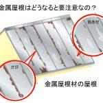 ~金属屋根はどうなると要注意なの? Q041~ 図解 屋根に関するQ&A