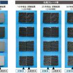 屋根材の耐候性試験結果 瓦は全く変色しないですよ~!