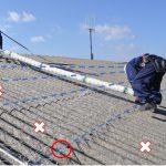 スレート屋根の改修工事は安全対策が第一です!落下事故がダントツで多い屋根です!