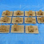 高浜市港小学校で「ミニ鬼瓦作り体験」をおやじの会で開催しました