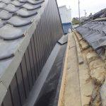 瓦屋根の雨漏り部分補修事例 谷板金の交換【愛知県豊田市】