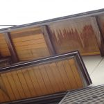 強風による破損・軒天の部分補修事例 軒天材の交換 【愛知県大府市】