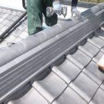 日本瓦屋根 棟の耐震改修 ガイドライン工法で葺き直し事例【愛知県安城市】