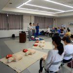 防災学習会を二池町内会で開催しました。普通救命講習1受講しましたよ。その2