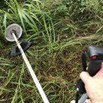 町内会の公園清掃活動日で草刈り機で草刈りをしました