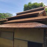 金沢の兼六園の屋根と21世紀美術館の屋根!