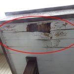 玄関の庇(ひさし)からの雨漏り 板金工事できれいによみがえりました【愛知県武豊町】