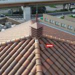 かわら美術館の屋根台風被害 速攻のドローン屋根点検&補修で安心です!