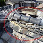 瓦屋根の部分修理 古い日本瓦屋根の葺き直し【愛知県美浜町】
