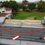 台風被害瓦屋根から分かった事。大回しの銅線は飛散防止に役立っている!