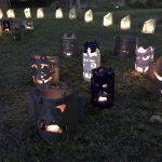 平成最後の「鬼みちまつり」が かわら美術館森前公園で開催されました ランプシェード編