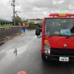 台風24号が日本列島を縦断していきました、消防団がまちの安全を支えてくれています