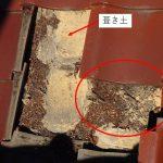 土葺き屋根の雨漏り原因は瓦のズレでした。部分補修で直しましょう!
