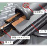 瓦屋根のガイドライン(耐震)工法、代表例2つ図解しています!(かんたん)