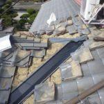 瓦屋根の雨漏り 谷部の雨漏り補修【愛知県尾西市】