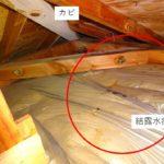 小屋裏の水たまり。雨漏り?結露? 原因は2つの施工ミスでした!
