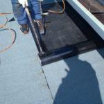屋上防水からの雨漏り アスファルト防水で雨漏り補修【愛知県岡崎市】