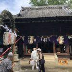 高浜市碧海町の神明社の天王祭で茅の輪くぐりをしてきました