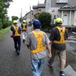 梅雨の合間に7月町内会徒歩防犯パトロールでした