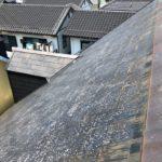 同じ建物のスレート屋根で、再塗装有無でスレート表面の比較をしました!
