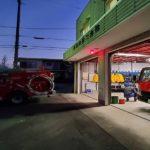 高浜市消防団の非常招集訓練で樋門の開閉訓練がありました