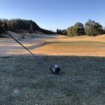 令和2年のゴルフ初打ちでした 雪の降る中でのゴルフでした(+o+)
