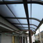 ベランダのテラス屋根の葺き替え フレームからの取替工事【愛知県名古屋市】