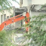 愛知県の職業訓練校である愛知県立高浜技術専門校の解体が進んでいます