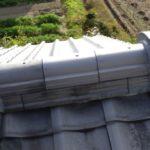日本瓦屋根の一体棟瓦の破損 新しい瓦で復旧しました。【愛知県豊田市】