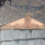 スレート屋根からの雨漏り 方形屋根の隅棟を棟包み板金で葺き替え