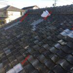 瓦屋根の部分修理 50年前の瓦屋根に現在の瓦を加工して補修【愛知県刈谷市】
