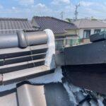 瓦屋根のリフォームが原因の雨漏り 棟違い部を部分補修 【愛知県あま市】
